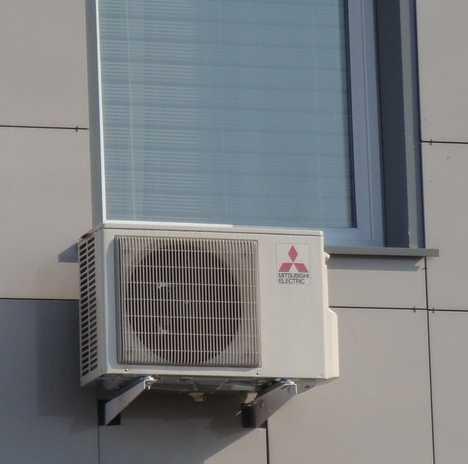 кондиционер на вентилируемый фасад жилого дома