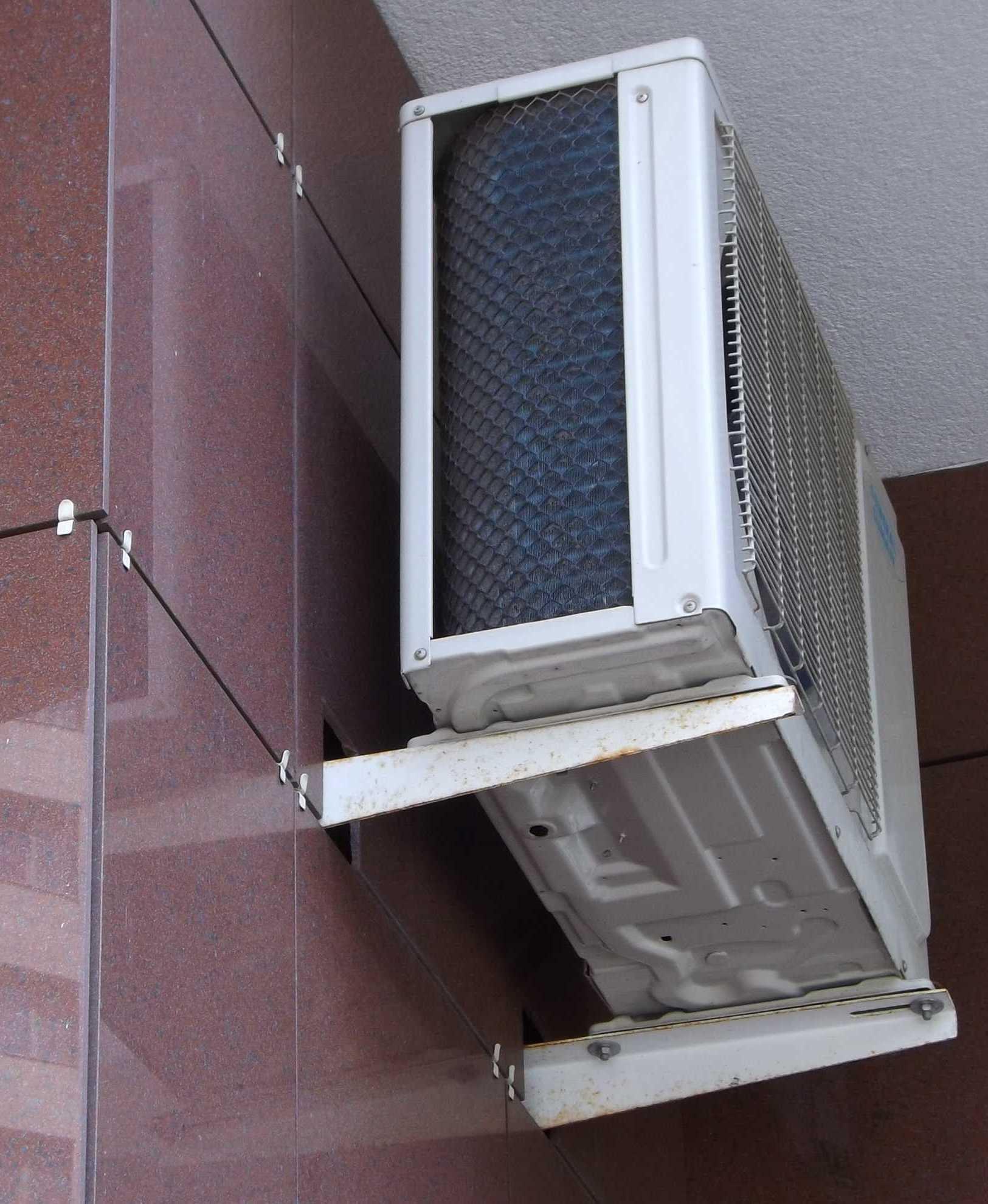 Установка кондиционеров на вентилируемый фасад